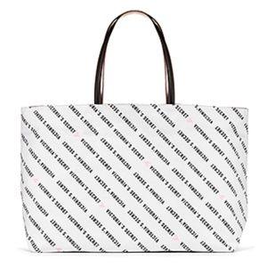 Victoria's Secret Bags - NWT Victoria's Secret Logo Tote Bag - Black/White